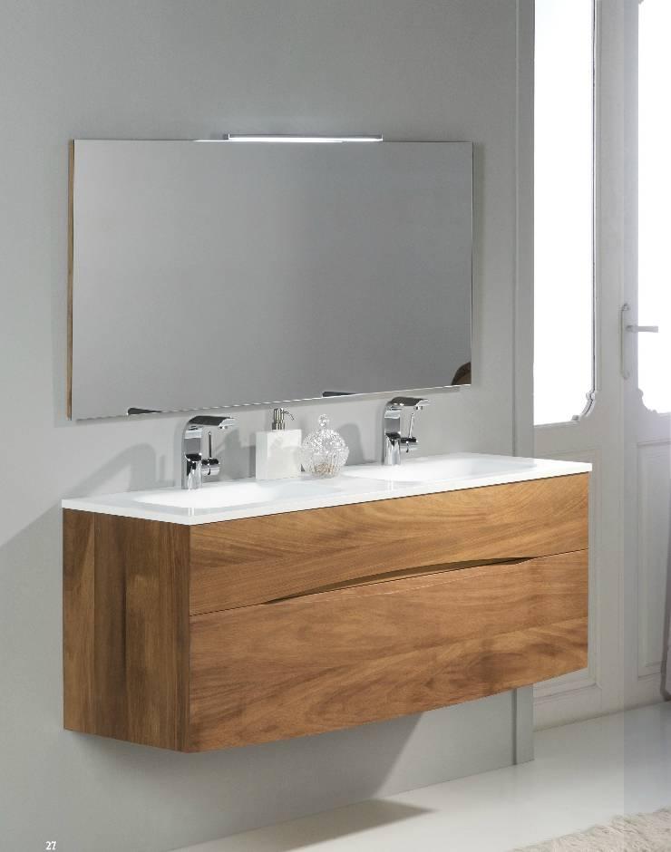 meuble vasque suspendu iroko ottofond douche modul 39 eau. Black Bedroom Furniture Sets. Home Design Ideas
