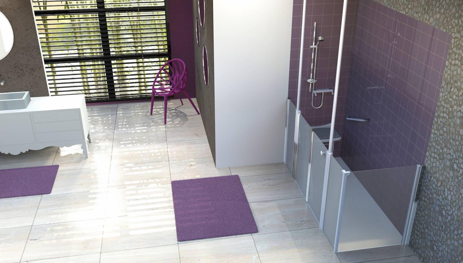 douche s curis e accessibilit plus pour s niors et. Black Bedroom Furniture Sets. Home Design Ideas