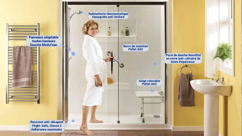 remplacement baignoire par douche marseille douche modul 39 eau. Black Bedroom Furniture Sets. Home Design Ideas